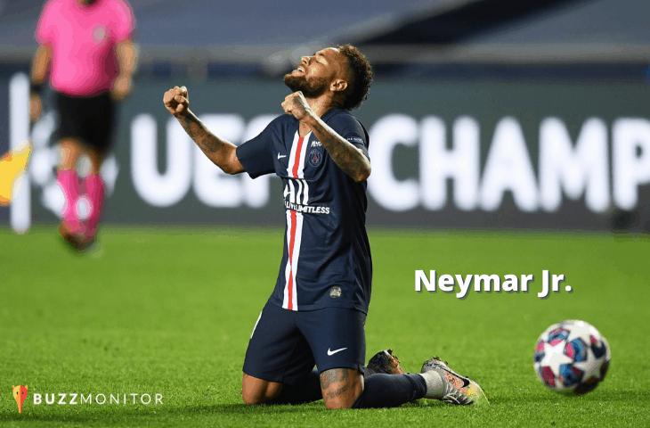Porque o jogador Neymar Jr. foi tão mencionado nas redes sociais de Agosto até agora?