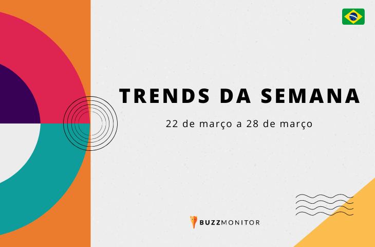 Trends da semana no Brasil: 22 de março a 28 de março de 2021