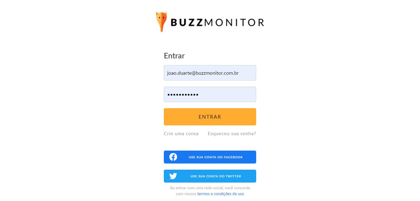 Buzzmonitor_AutenticaçãoLogin