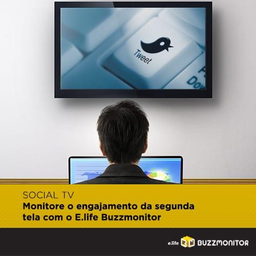 Monitore o engajamento da segunda tela com o E.life Buzzmonitor