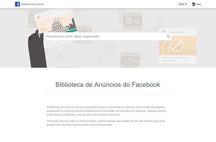 Facebook lança Biblioteca de Anúncios e confere transparência à propaganda digital
